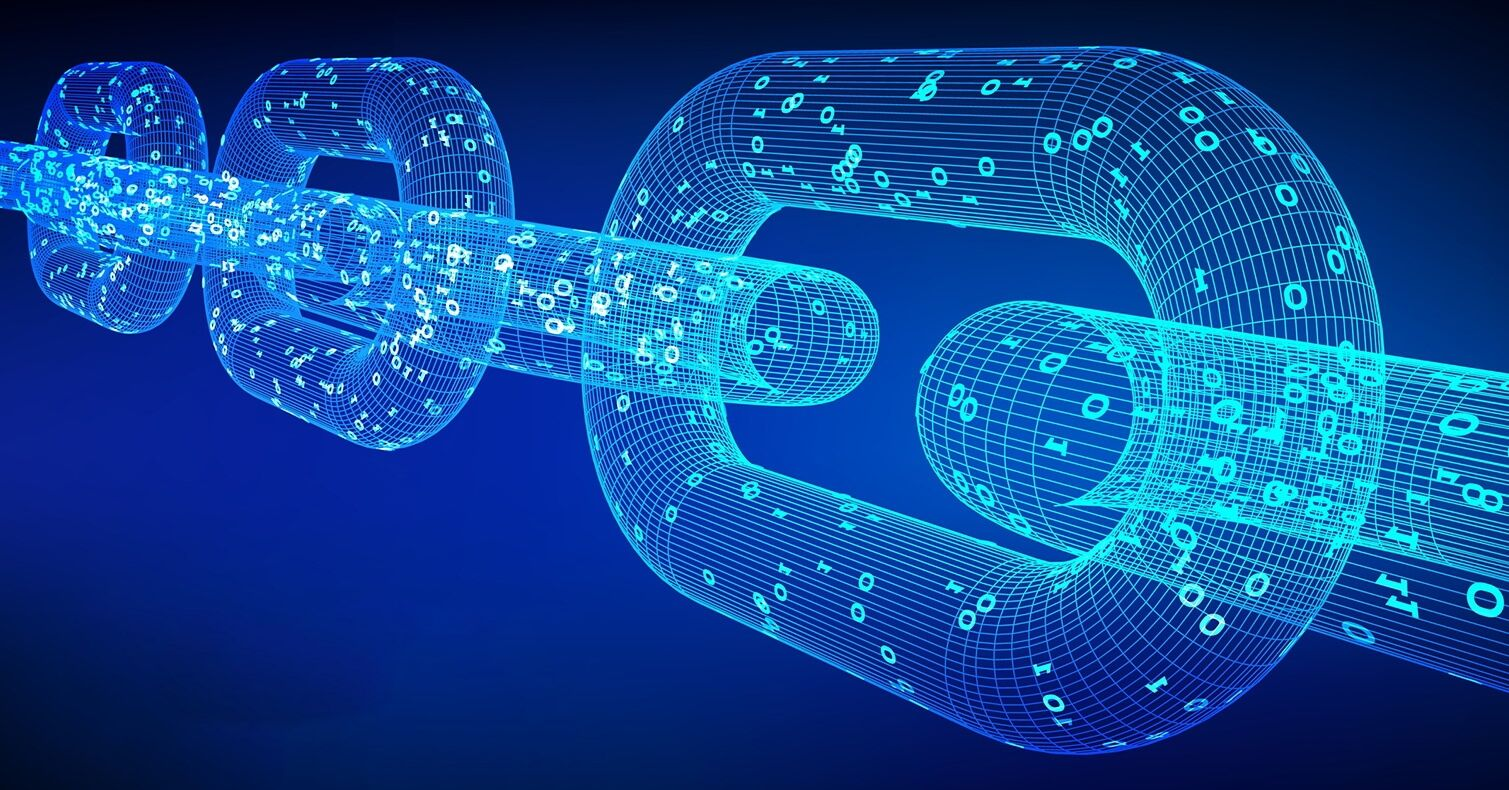 Ilustracija blockchain ekosustava.