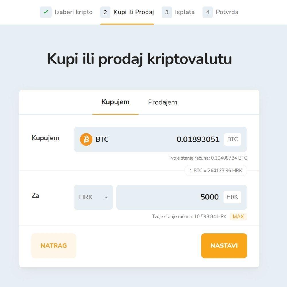 Kalkulator za izračunavanje tečaja iz Bitcoina u kune HRK.